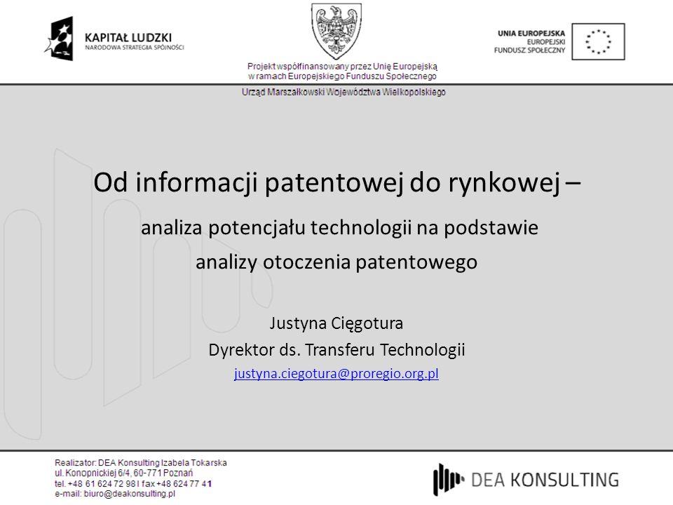 Od informacji patentowej do rynkowej –