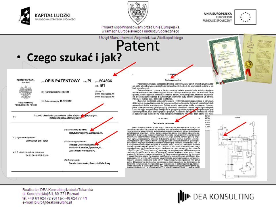 Patent Czego szukać i jak