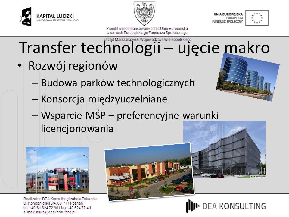 Transfer technologii – ujęcie makro