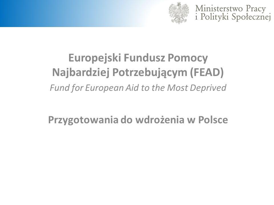 Europejski Fundusz Pomocy Najbardziej Potrzebującym (FEAD)