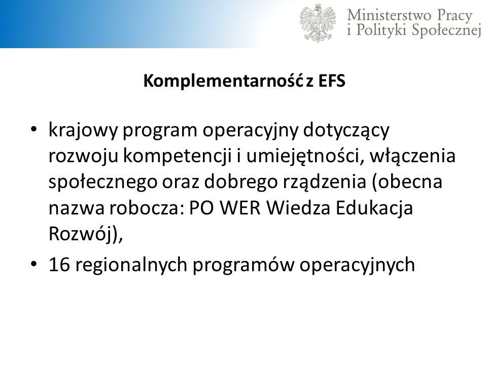 Komplementarność z EFS