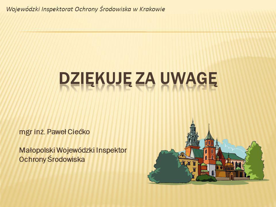 DZIĘKUJĘ ZA UWAGĘ mgr inż. Paweł Ciećko