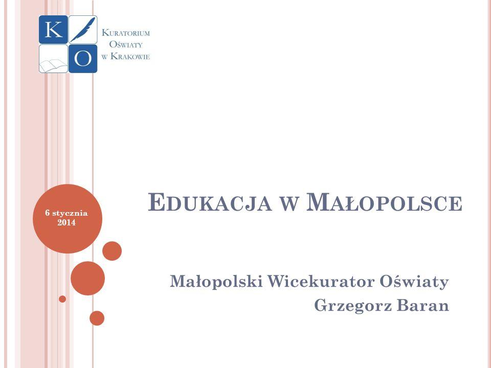 Małopolski Wicekurator Oświaty Grzegorz Baran