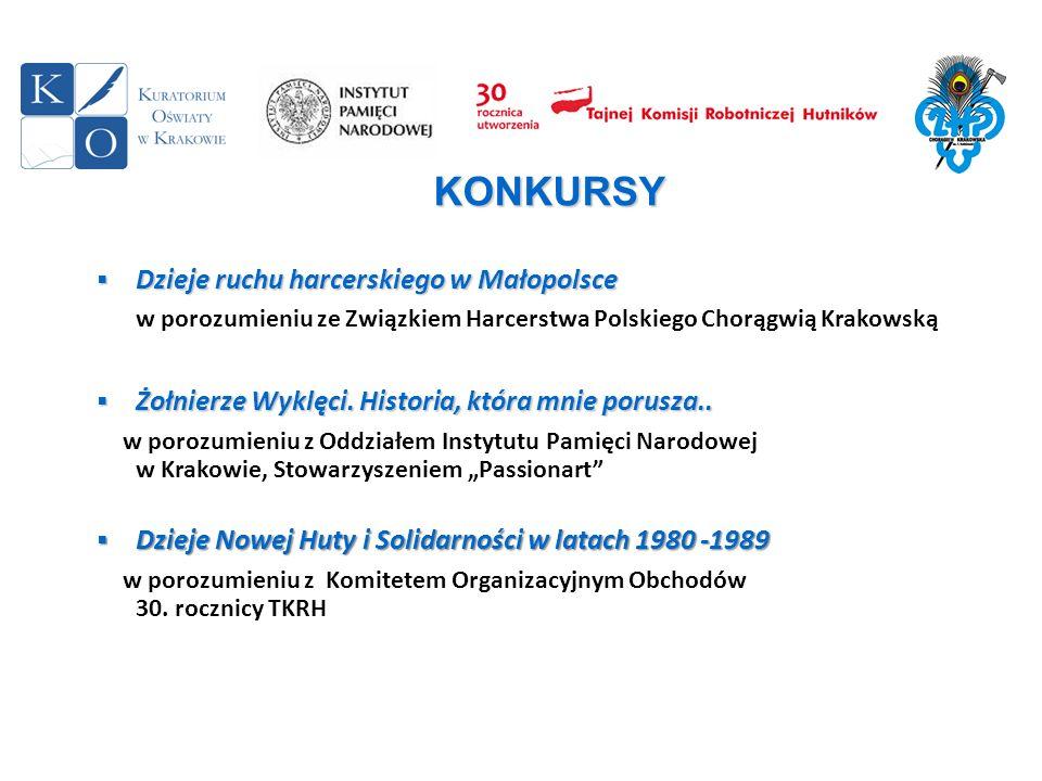 KONKURSY Dzieje ruchu harcerskiego w Małopolsce