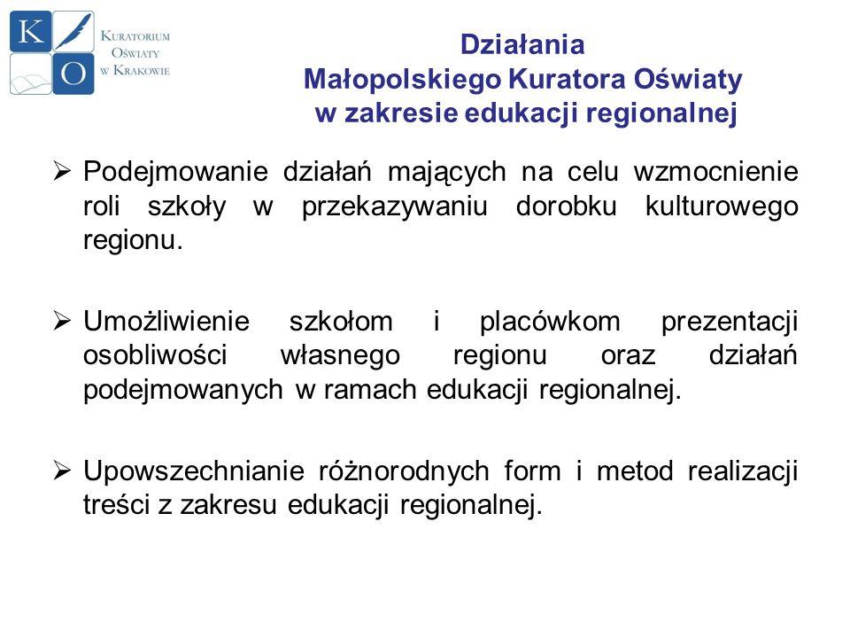 Działania Małopolskiego Kuratora Oświaty w zakresie edukacji regionalnej