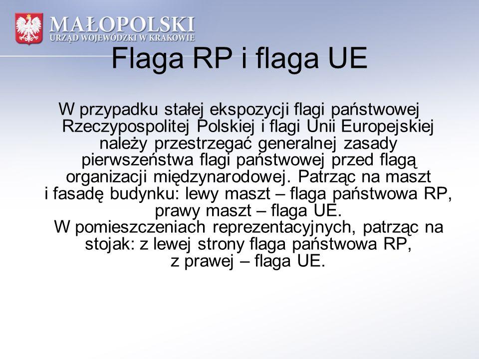 Flaga RP i flaga UE