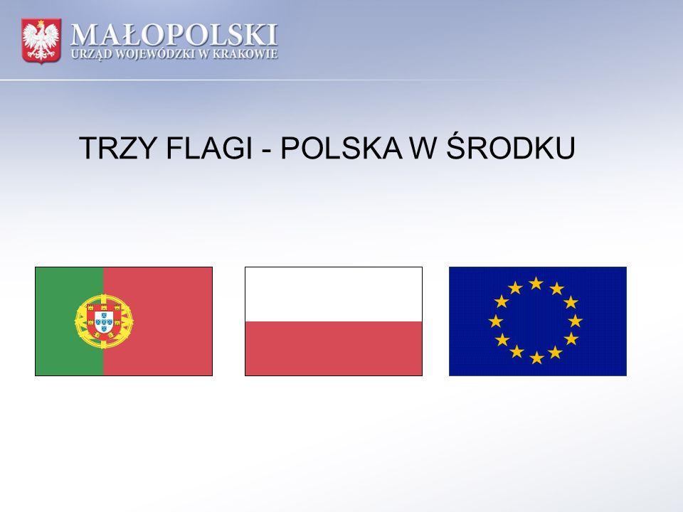 TRZY FLAGI - POLSKA W ŚRODKU