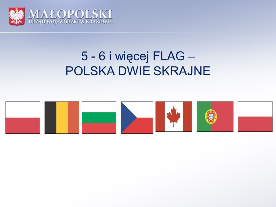 5 - 6 i więcej FLAG – POLSKA DWIE SKRAJNE
