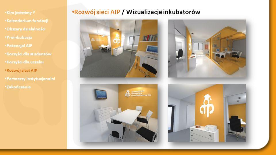 Rozwój sieci AIP / Wizualizacje inkubatorów