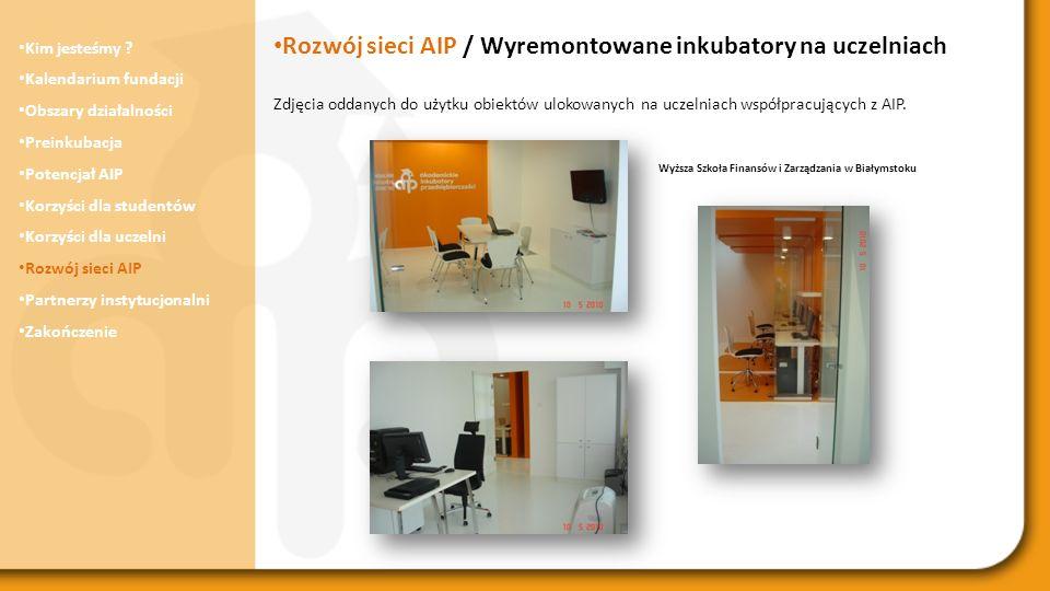 Rozwój sieci AIP / Wyremontowane inkubatory na uczelniach