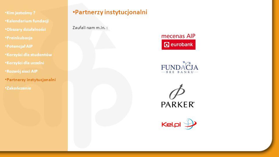 Partnerzy instytucjonalni