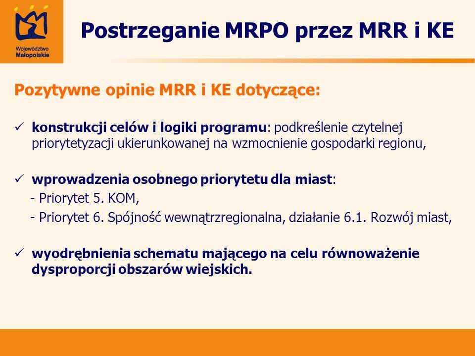 Postrzeganie MRPO przez MRR i KE