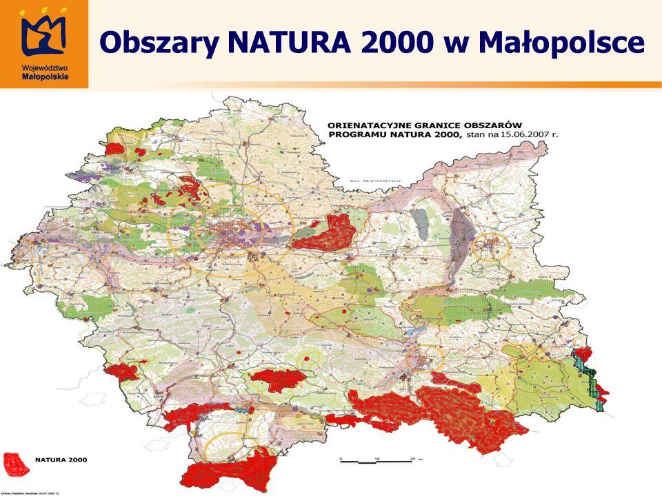 Obszary NATURA 2000 w Małopolsce