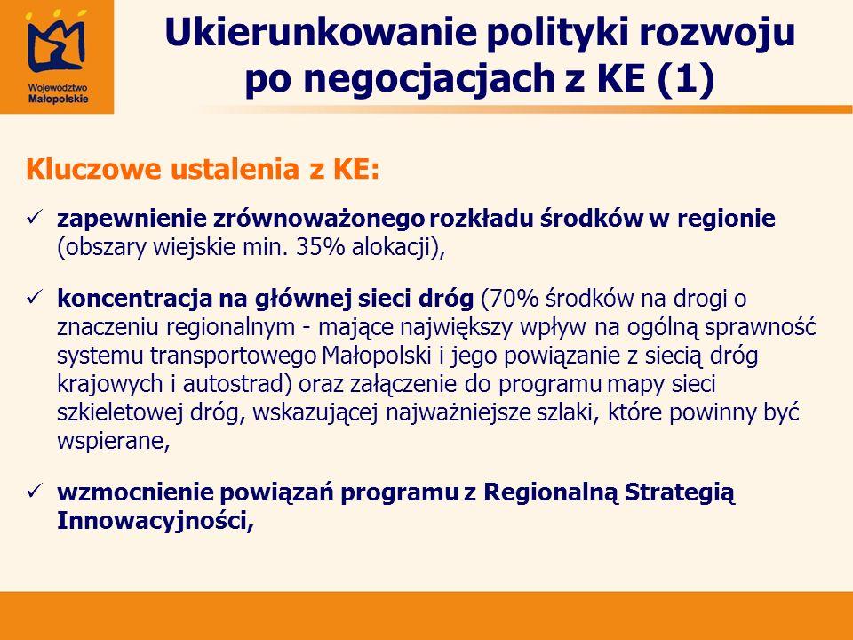 Ukierunkowanie polityki rozwoju po negocjacjach z KE (1)
