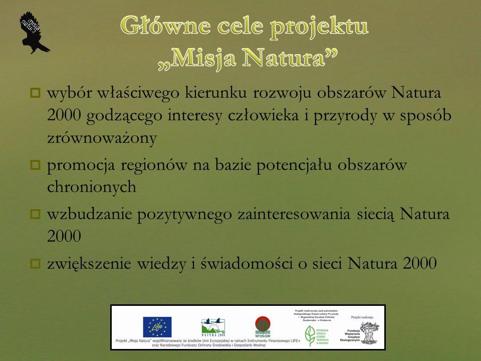 """Główne cele projektu """"Misja Natura"""