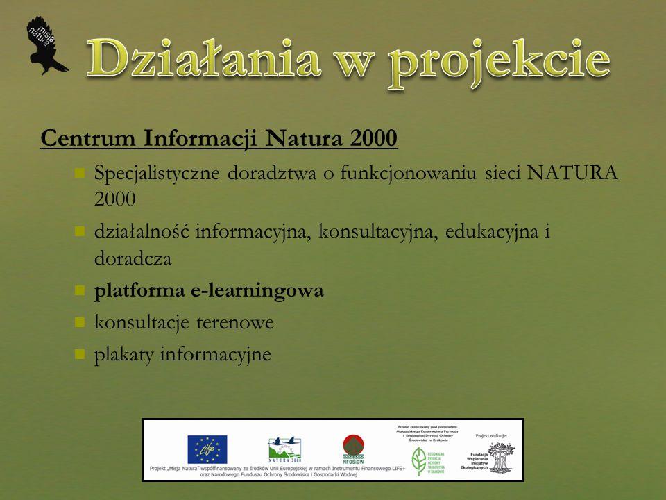 Działania w projekcie Centrum Informacji Natura 2000