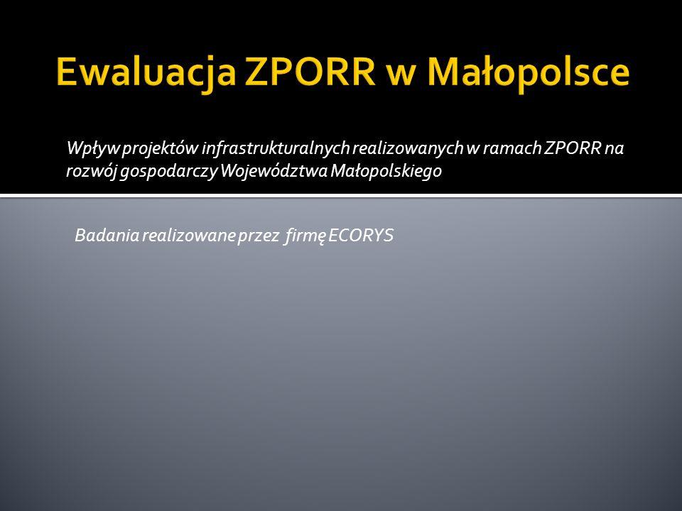 Ewaluacja ZPORR w Małopolsce