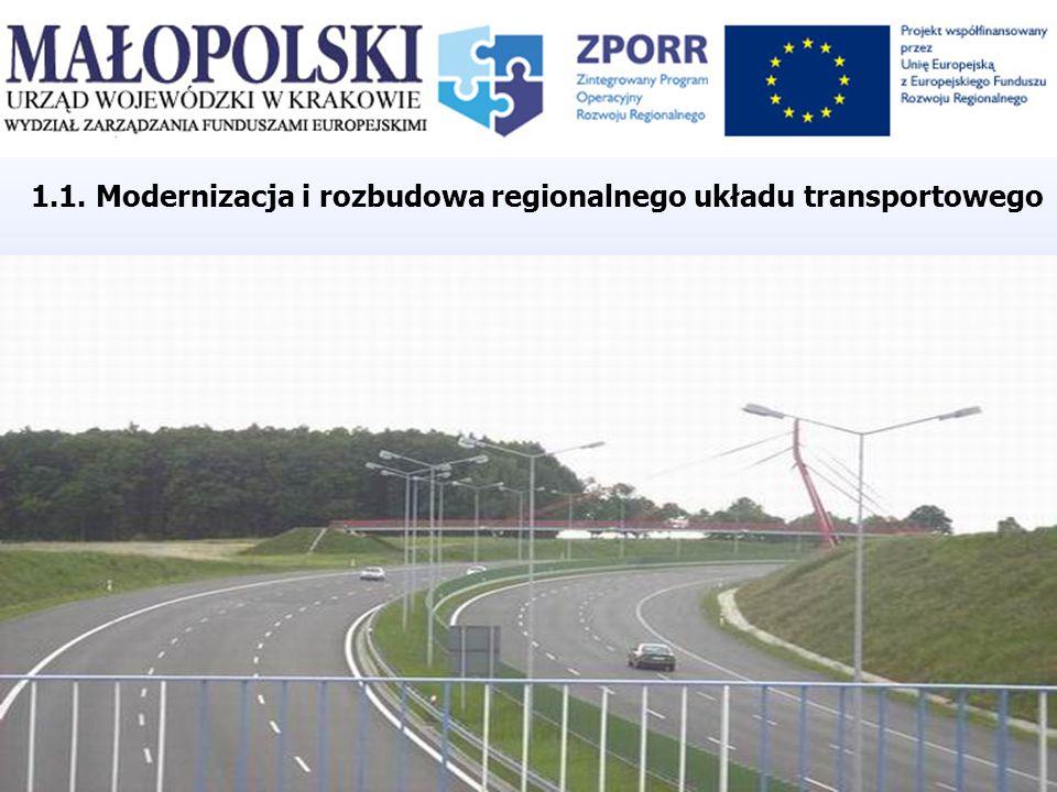 1.1. Modernizacja i rozbudowa regionalnego układu transportowego