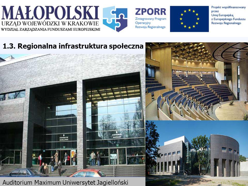 1.3. Regionalna infrastruktura społeczna