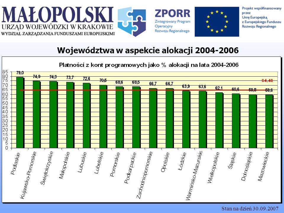 Województwa w aspekcie alokacji 2004-2006
