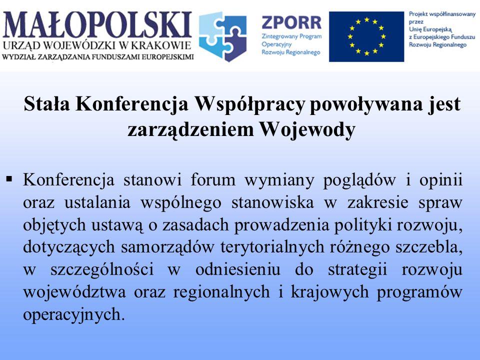 Stała Konferencja Współpracy powoływana jest zarządzeniem Wojewody