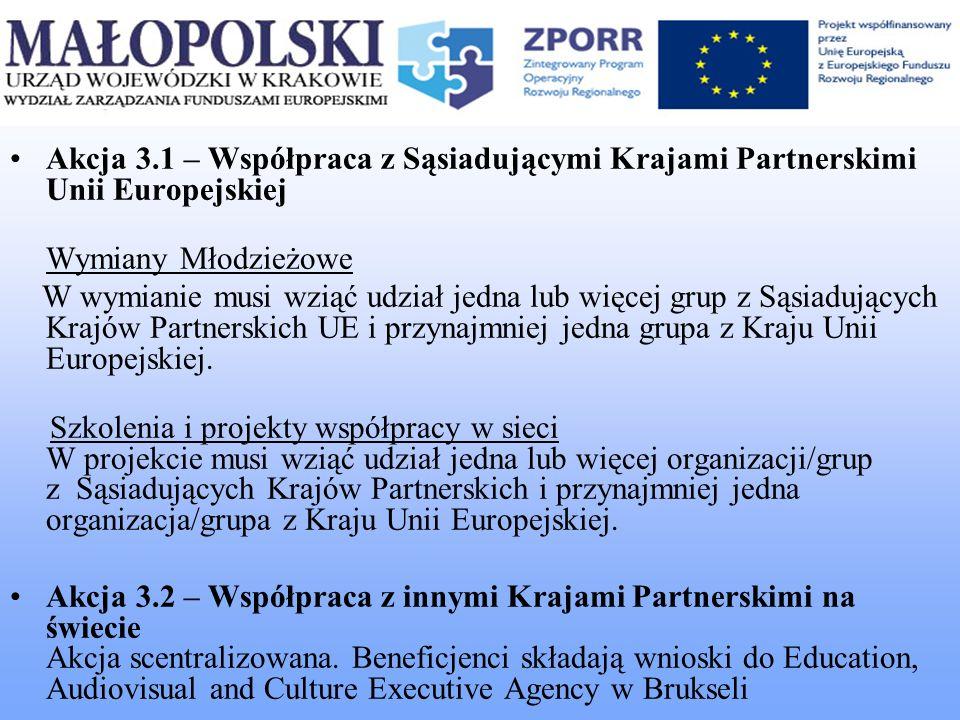 Akcja 3.1 – Współpraca z Sąsiadującymi Krajami Partnerskimi Unii Europejskiej