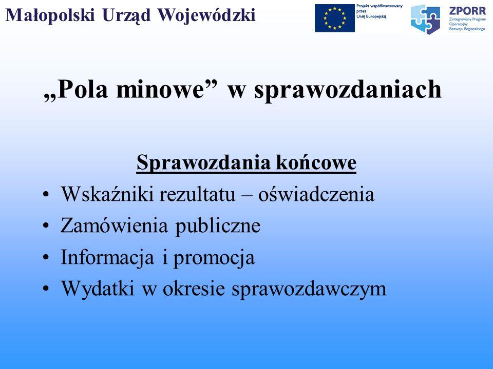 """""""Pola minowe w sprawozdaniach"""