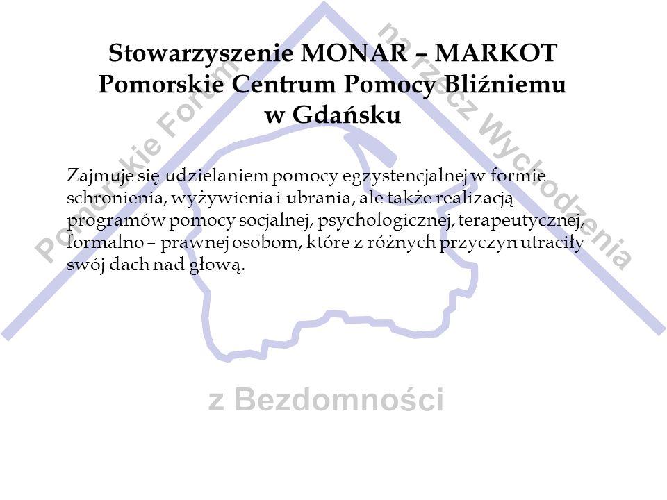 Stowarzyszenie MONAR – MARKOT Pomorskie Centrum Pomocy Bliźniemu w Gdańsku