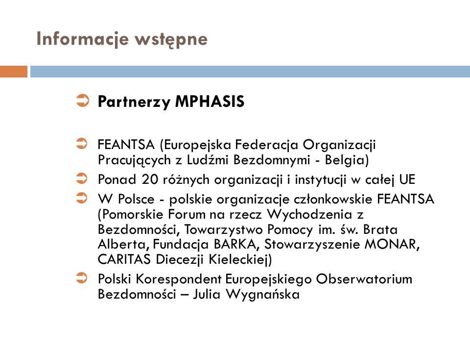 Informacje wstępne Partnerzy MPHASIS