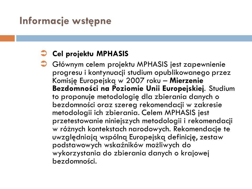Informacje wstępne Cel projektu MPHASIS