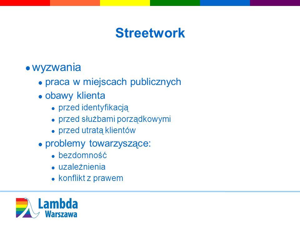Streetwork wyzwania praca w miejscach publicznych obawy klienta