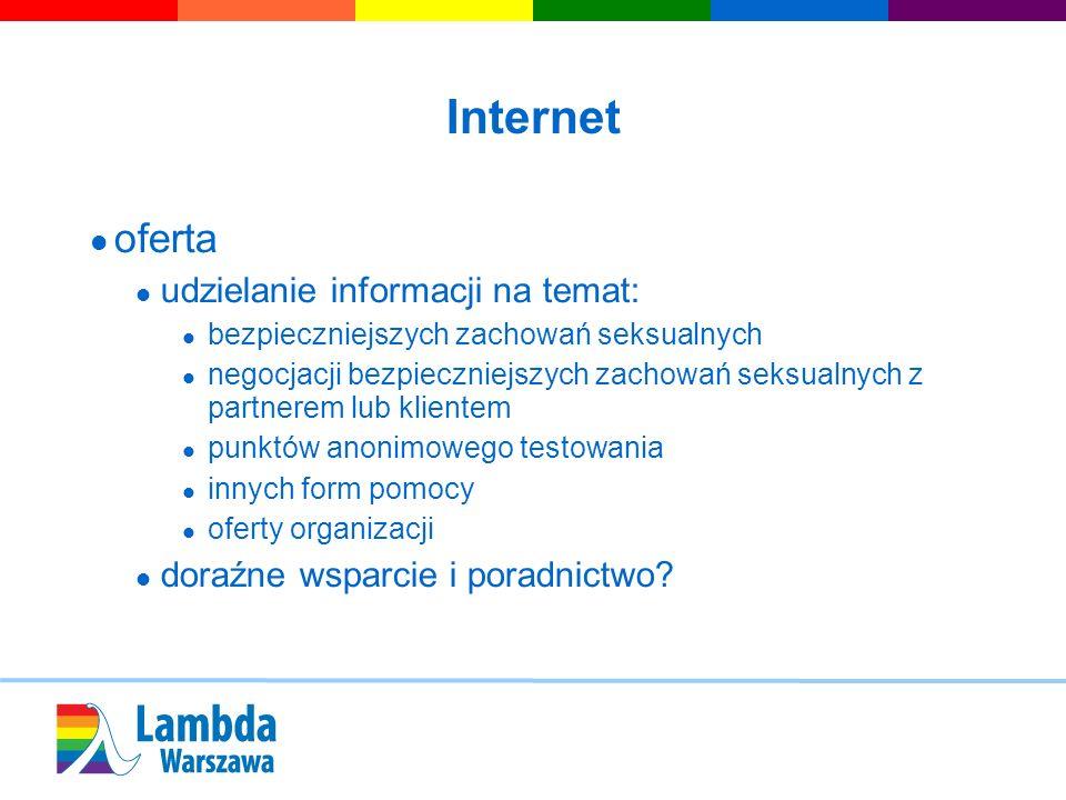Internet oferta udzielanie informacji na temat: