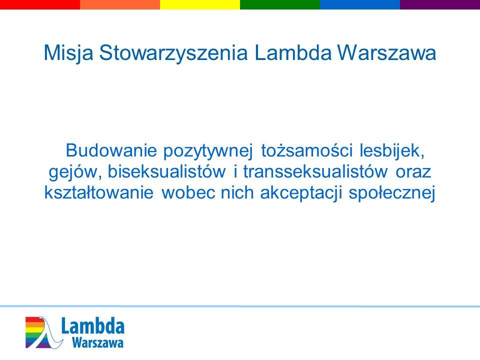 Misja Stowarzyszenia Lambda Warszawa