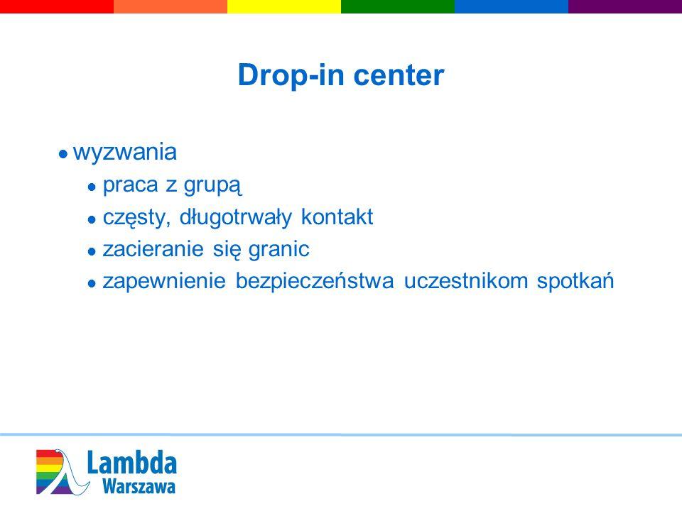 Drop-in center wyzwania praca z grupą częsty, długotrwały kontakt