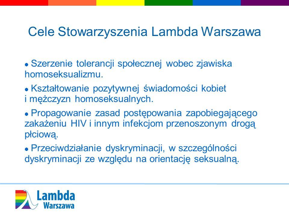 Cele Stowarzyszenia Lambda Warszawa