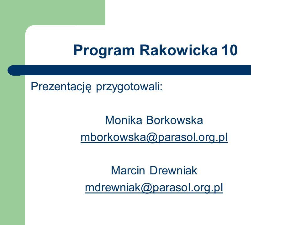 Program Rakowicka 10 Prezentację przygotowali: Monika Borkowska