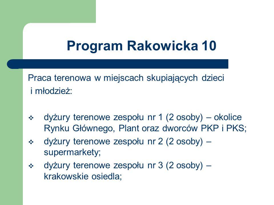 Program Rakowicka 10 Praca terenowa w miejscach skupiających dzieci