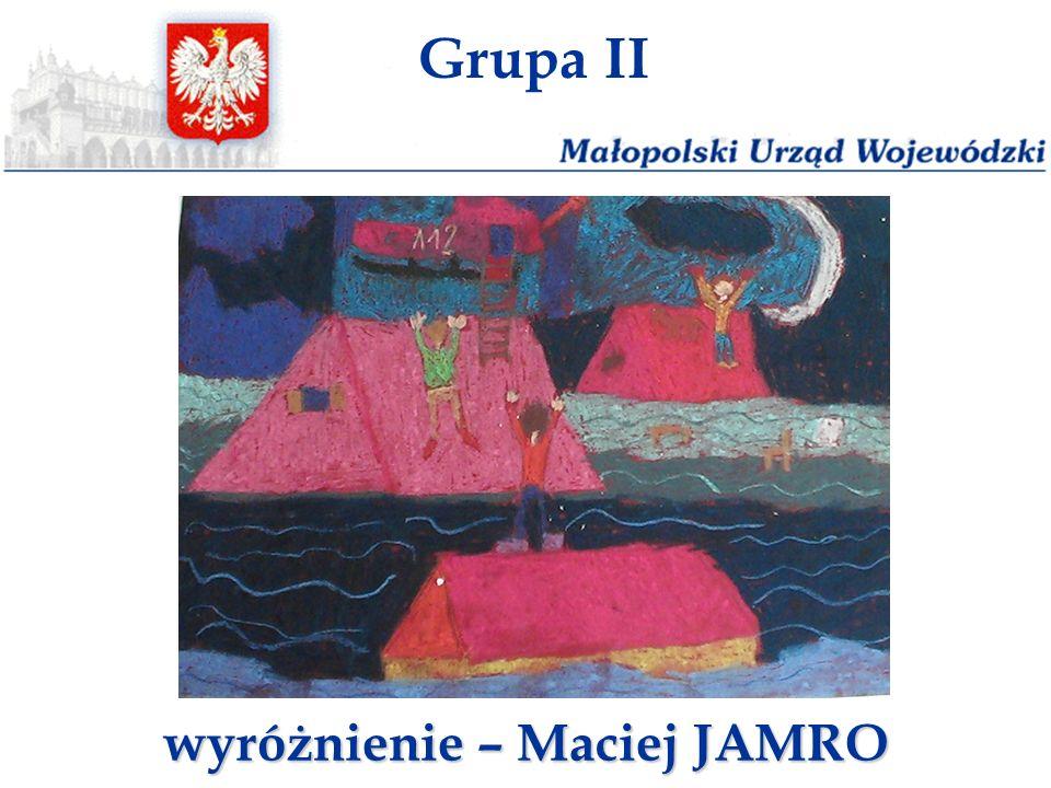 wyróżnienie – Maciej JAMRO