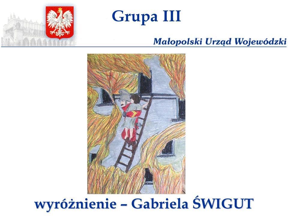 wyróżnienie – Gabriela ŚWIGUT