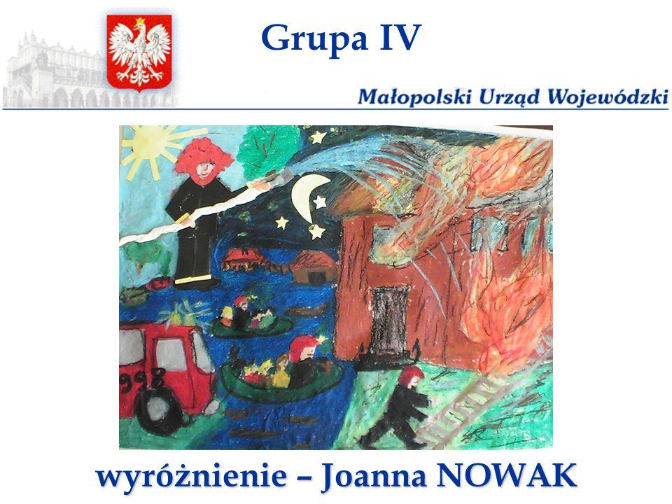 wyróżnienie – Joanna NOWAK