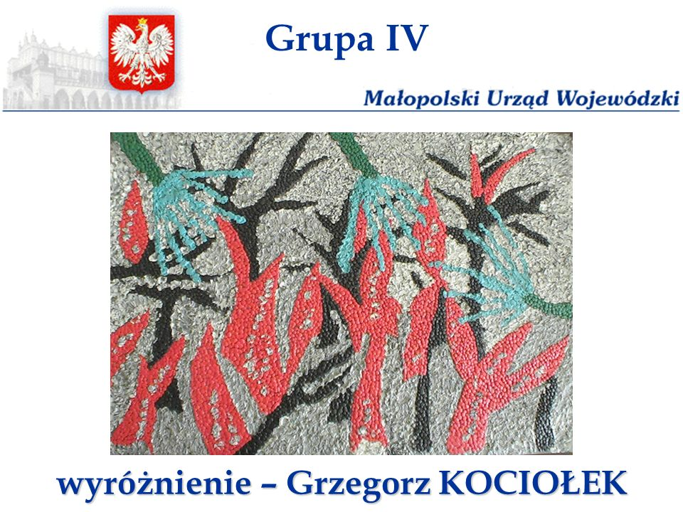 wyróżnienie – Grzegorz KOCIOŁEK