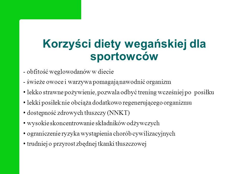 Korzyści diety wegańskiej dla sportowców