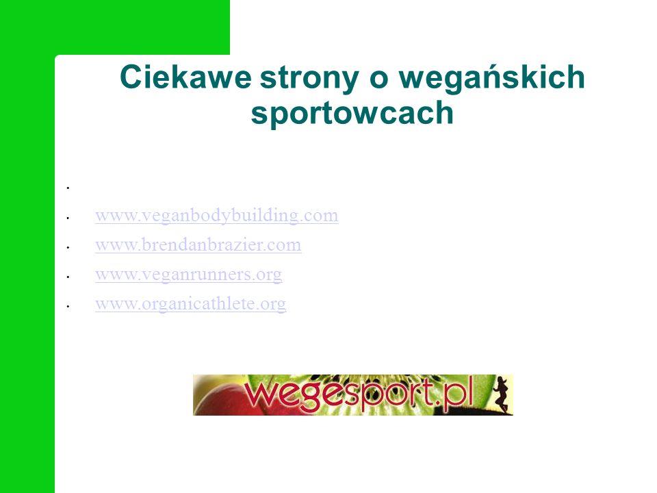 Ciekawe strony o wegańskich sportowcach