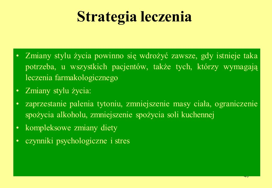 Strategia leczenia