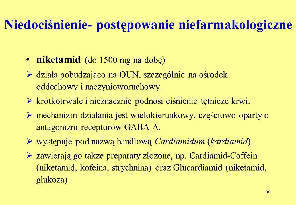 Niedociśnienie- postępowanie niefarmakologiczne