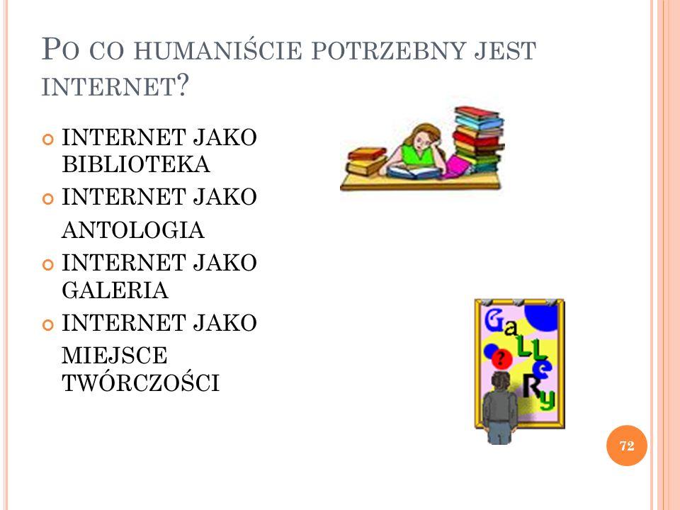Po co humaniście potrzebny jest internet