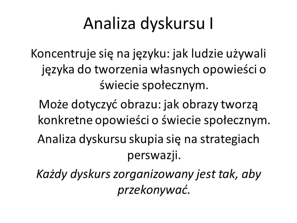 Analiza dyskursu I
