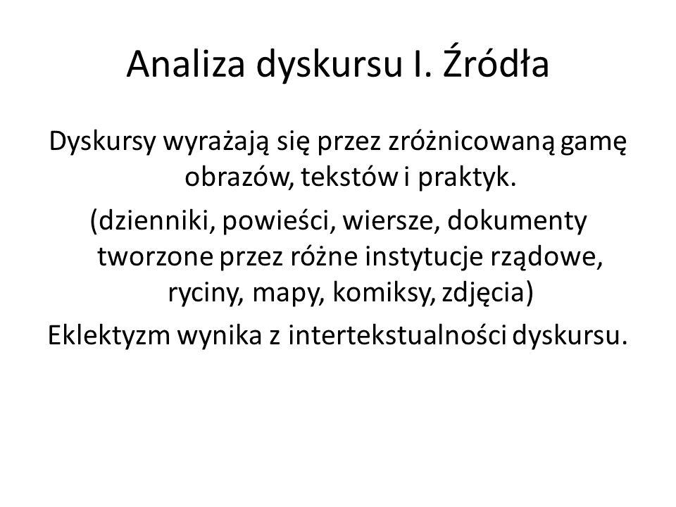 Analiza dyskursu I. Źródła