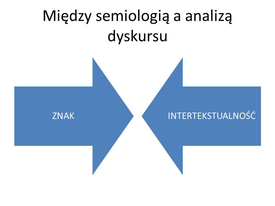 Między semiologią a analizą dyskursu