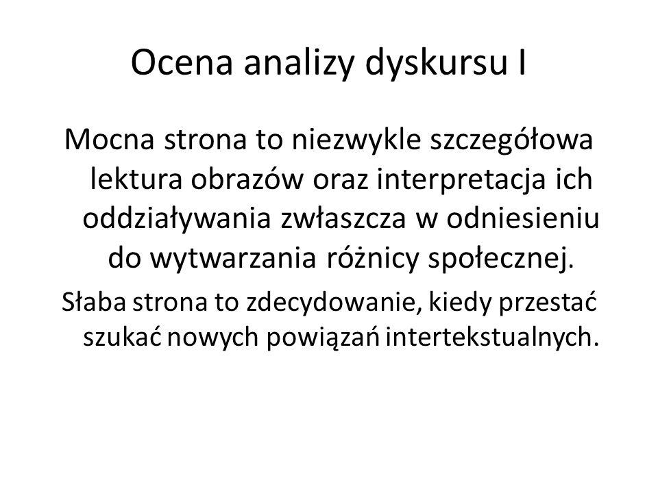 Ocena analizy dyskursu I